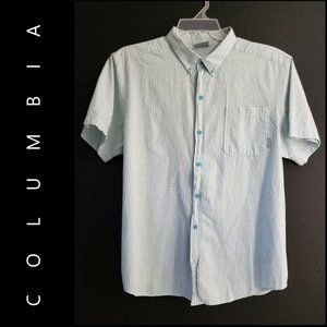 Columbia Men Plaid & Check Button Front Shirt XL